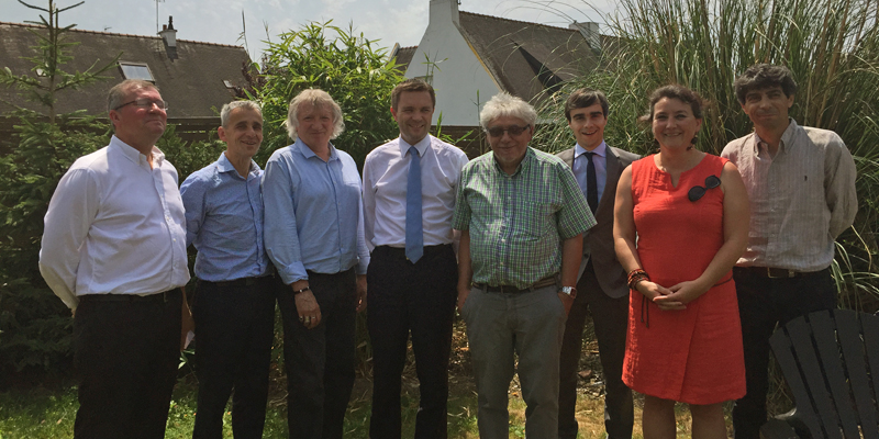 Déplacement sénatorial en Morbihan