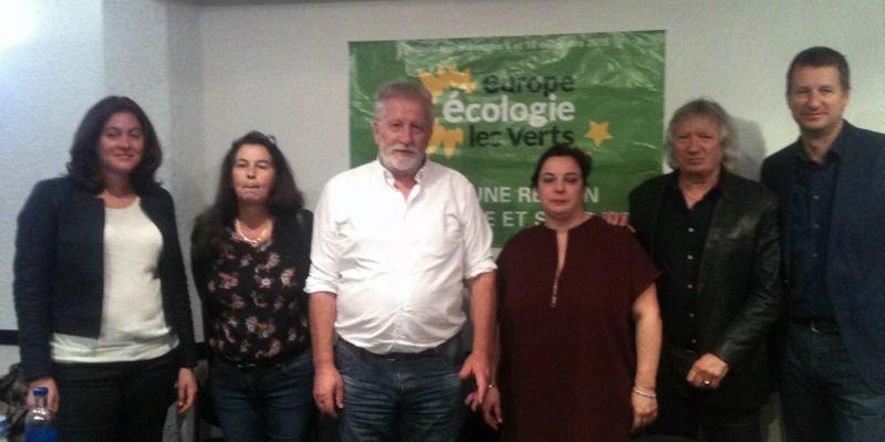 De gauche à droite : S. Bringuy, MP. Deleume, R. Louail, E. Cosse, J. Labbé et Y. Jadot