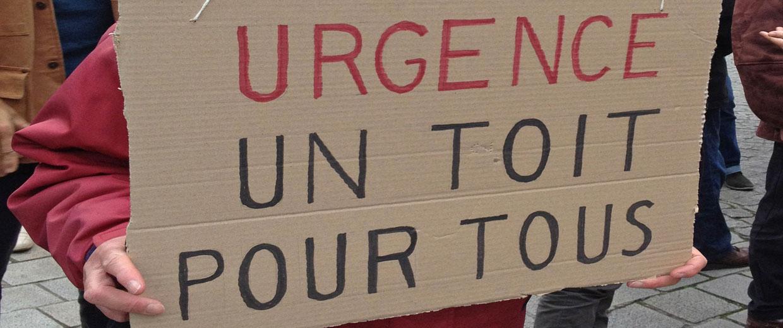 Mobilisation «Urgence un toit pour tous»