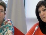 Brigitte Allain et Danielle Auroi