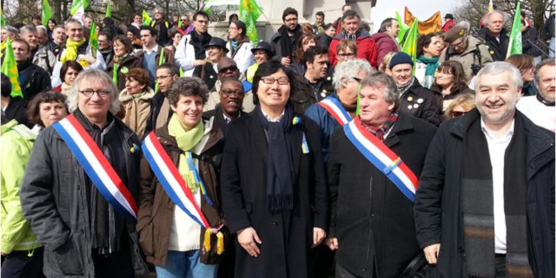 Une délégation du Groupe écologiste du Sénat