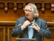 Le sénateur morbihannais Joël Labbé avait retiré sa cravate au Sénat pour protester contre le refus de sa proposition pour l'interdiction des insecticides néonicotinoïdes | Capture d'écran